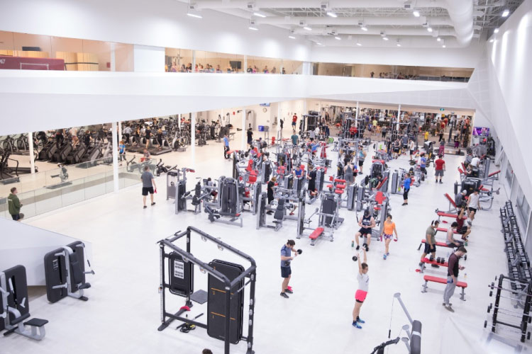 Fitness Centre in the Guelph Gryphons Athletics Centre (photo courtesy of the University of Guelph)