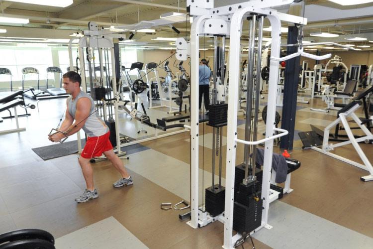 Laurentian University weight room