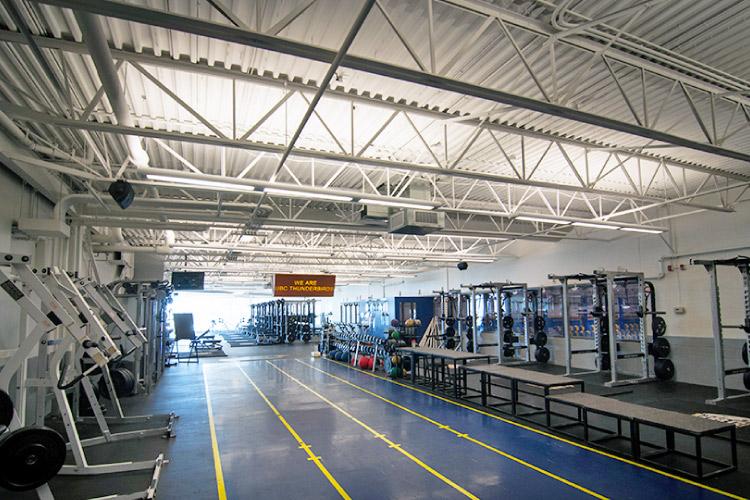 Smith & Laycoe Varsity Weight Room in the Doug Mitchell Thunderbird Sports Centre (photo courtesy of UBC)