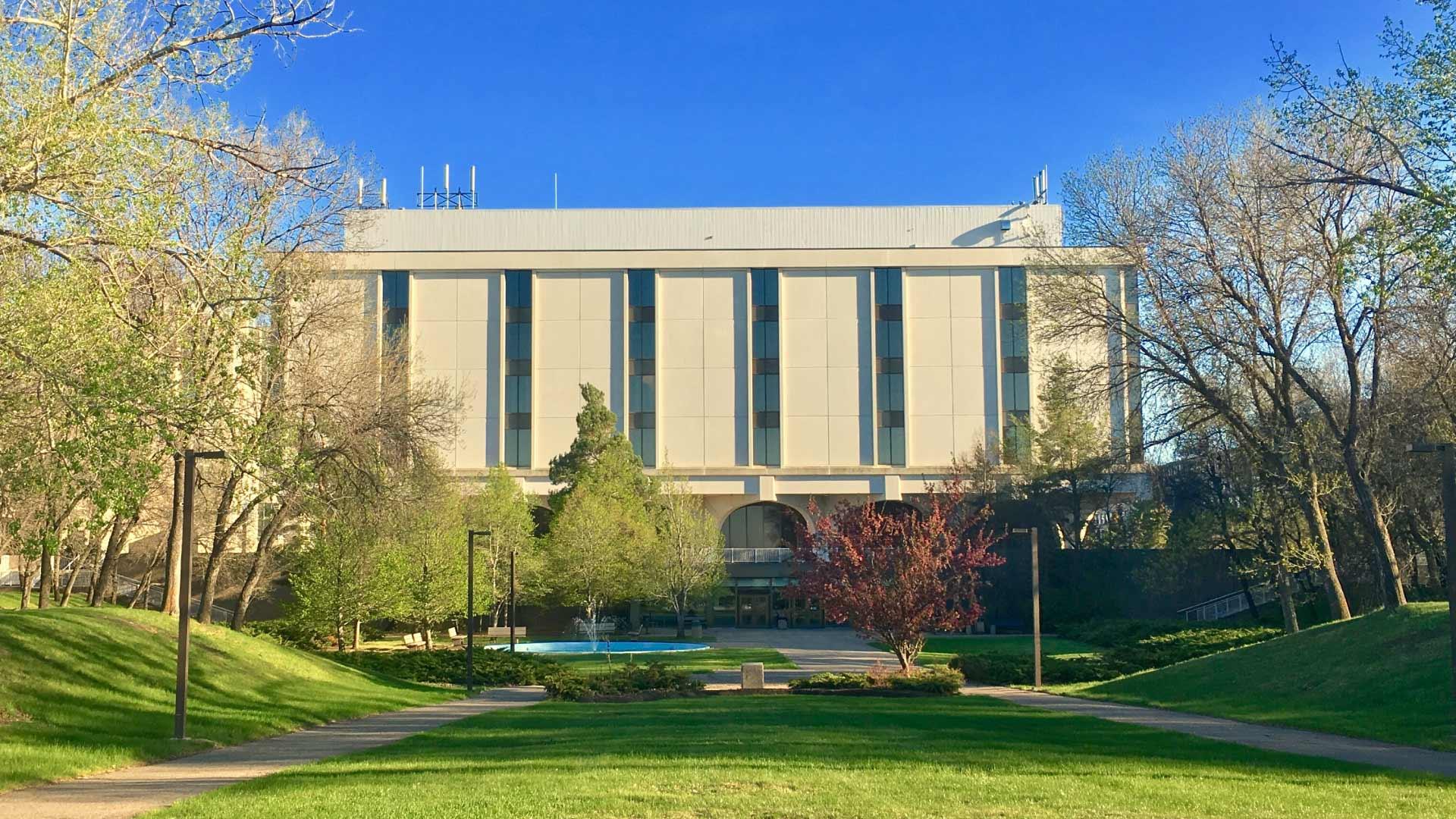 University of Regina building with blue skies