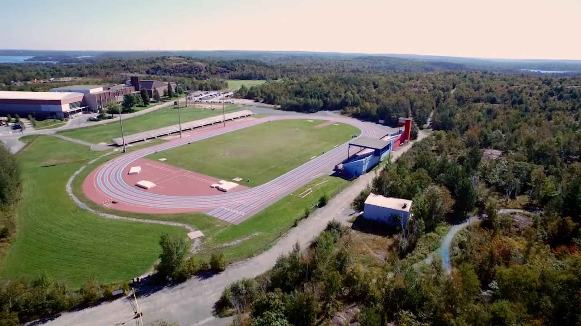 Aerial view of the Laurentian University track