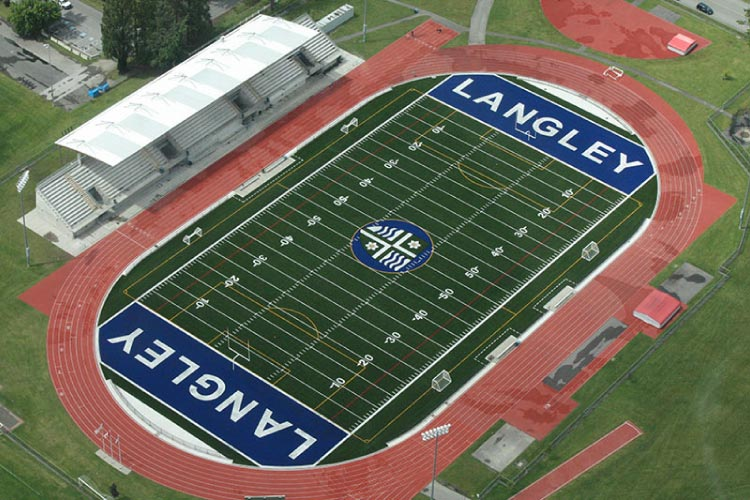 McLeod Stadium outdoor track (photo courtesy of Langley Rams)
