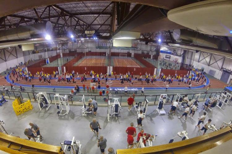 Indoor track in the Saskatoon Field House
